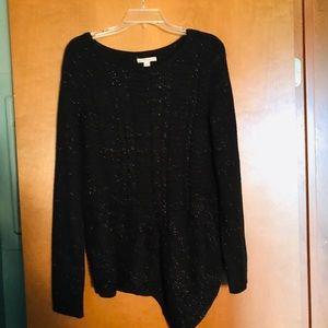Dana Buchanan sparkly black sweater.